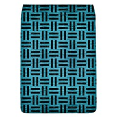 Woven1 Black Marble & Teal Brushed Metal Flap Covers (l)  by trendistuff