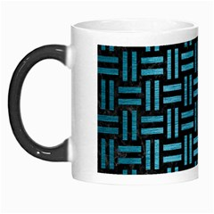 Woven1 Black Marble & Teal Brushed Metal (r) Morph Mugs by trendistuff