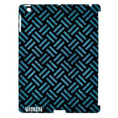 Woven2 Black Marble & Teal Brushed Metal (r) Apple Ipad 3/4 Hardshell Case (compatible With Smart Cover) by trendistuff