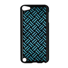 Woven2 Black Marble & Teal Brushed Metal (r) Apple Ipod Touch 5 Case (black) by trendistuff