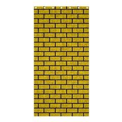Brick1 Black Marble & Yellow Denim Shower Curtain 36  X 72  (stall)  by trendistuff