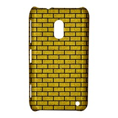 Brick1 Black Marble & Yellow Denim Nokia Lumia 620 by trendistuff