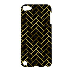 Brick2 Black Marble & Yellow Denim (r) Apple Ipod Touch 5 Hardshell Case by trendistuff