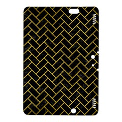 Brick2 Black Marble & Yellow Denim (r) Kindle Fire Hdx 8 9  Hardshell Case by trendistuff