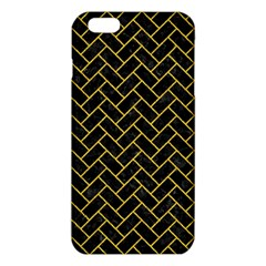 Brick2 Black Marble & Yellow Denim (r) Iphone 6 Plus/6s Plus Tpu Case