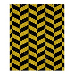 Chevron1 Black Marble & Yellow Denim Shower Curtain 60  X 72  (medium)  by trendistuff