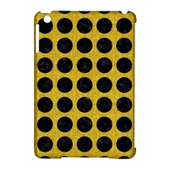 Circles1 Black Marble & Yellow Denim Apple Ipad Mini Hardshell Case (compatible With Smart Cover) by trendistuff