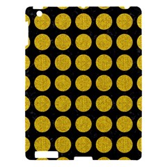 Circles1 Black Marble & Yellow Denim (r) Apple Ipad 3/4 Hardshell Case by trendistuff