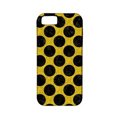 Circles2 Black Marble & Yellow Denim Apple Iphone 5 Classic Hardshell Case (pc+silicone) by trendistuff