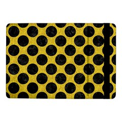 Circles2 Black Marble & Yellow Denim Samsung Galaxy Tab Pro 10 1  Flip Case by trendistuff
