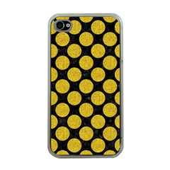 Circles2 Black Marble & Yellow Denim (r) Apple Iphone 4 Case (clear) by trendistuff