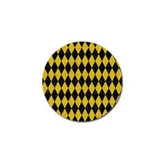 Diamond1 Black Marble & Yellow Denim Golf Ball Marker by trendistuff