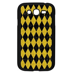 Diamond1 Black Marble & Yellow Denim Samsung Galaxy Grand Duos I9082 Case (black) by trendistuff