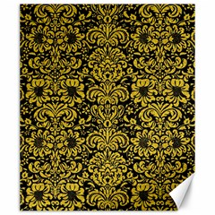 Damask2 Black Marble & Yellow Denim (r) Canvas 20  X 24   by trendistuff