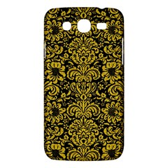 Damask2 Black Marble & Yellow Denim (r) Samsung Galaxy Mega 5 8 I9152 Hardshell Case  by trendistuff