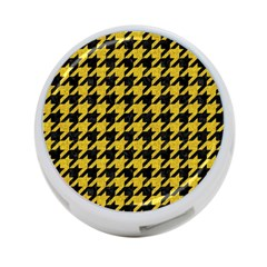 Houndstooth1 Black Marble & Yellow Denim 4 Port Usb Hub (one Side)