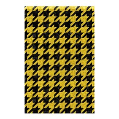 Houndstooth1 Black Marble & Yellow Denim Shower Curtain 48  X 72  (small)  by trendistuff