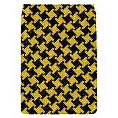 Houndstooth2 Black Marble & Yellow Denim Flap Covers (s)  by trendistuff