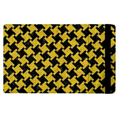 Houndstooth2 Black Marble & Yellow Denim Apple Ipad Pro 9 7   Flip Case by trendistuff