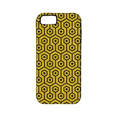 Hexagon1 Black Marble & Yellow Denim Apple Iphone 5 Classic Hardshell Case (pc+silicone) by trendistuff