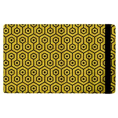 Hexagon1 Black Marble & Yellow Denim Apple Ipad Pro 9 7   Flip Case by trendistuff