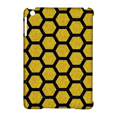 Hexagon2 Black Marble & Yellow Denim Apple Ipad Mini Hardshell Case (compatible With Smart Cover) by trendistuff