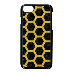 Hexagon2 Black Marble & Yellow Denim (r) Apple Iphone 7 Seamless Case (black) by trendistuff