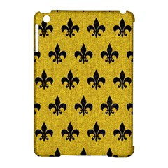 Royal1 Black Marble & Yellow Denim (r) Apple Ipad Mini Hardshell Case (compatible With Smart Cover) by trendistuff