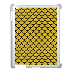Scales1 Black Marble & Yellow Denim Apple Ipad 3/4 Case (white) by trendistuff