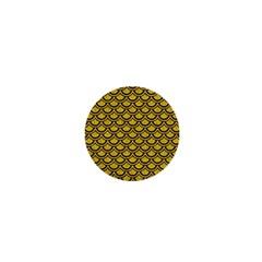 Scales2 Black Marble & Yellow Denim 1  Mini Magnets by trendistuff