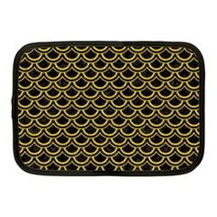 Scales2 Black Marble & Yellow Denim (r) Netbook Case (medium)  by trendistuff