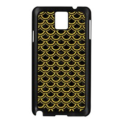 Scales2 Black Marble & Yellow Denim (r) Samsung Galaxy Note 3 N9005 Case (black) by trendistuff