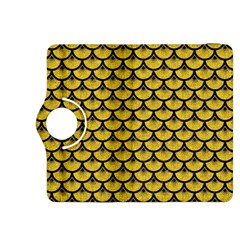 Scales3 Black Marble & Yellow Denim Kindle Fire Hdx 8 9  Flip 360 Case by trendistuff