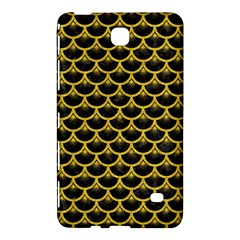 Scales3 Black Marble & Yellow Denim (r) Samsung Galaxy Tab 4 (7 ) Hardshell Case  by trendistuff