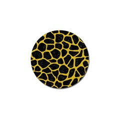Skin1 Black Marble & Yellow Denim Golf Ball Marker (10 Pack) by trendistuff