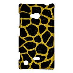 Skin1 Black Marble & Yellow Denim Nokia Lumia 720 by trendistuff