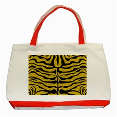Skin2 Black Marble & Yellow Denim Classic Tote Bag (red) by trendistuff