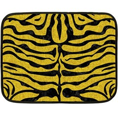 Skin2 Black Marble & Yellow Denim Double Sided Fleece Blanket (mini)  by trendistuff