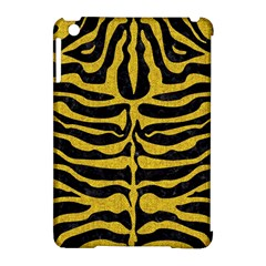 Skin2 Black Marble & Yellow Denim (r) Apple Ipad Mini Hardshell Case (compatible With Smart Cover) by trendistuff