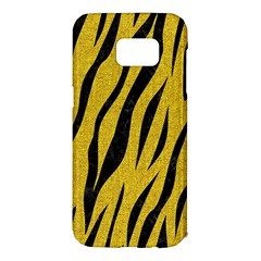 Skin3 Black Marble & Yellow Denim Samsung Galaxy S7 Edge Hardshell Case