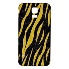 Skin3 Black Marble & Yellow Denim (r) Samsung Galaxy S5 Back Case (white) by trendistuff