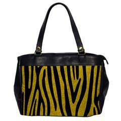 Skin4 Black Marble & Yellow Denim (r) Office Handbags by trendistuff