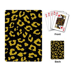 Skin5 Black Marble & Yellow Denim Playing Card by trendistuff