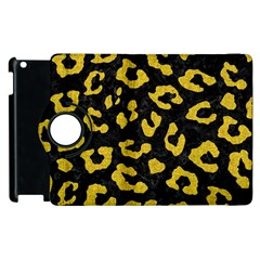 Skin5 Black Marble & Yellow Denim Apple Ipad 2 Flip 360 Case by trendistuff