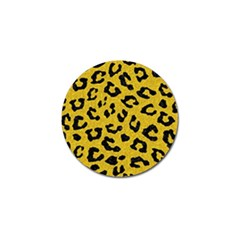 Skin5 Black Marble & Yellow Denim (r) Golf Ball Marker by trendistuff
