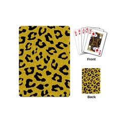 Skin5 Black Marble & Yellow Denim (r) Playing Cards (mini)  by trendistuff