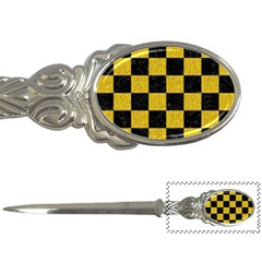 Square1 Black Marble & Yellow Denim Letter Openers