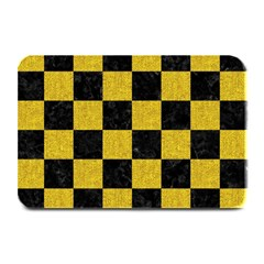 Square1 Black Marble & Yellow Denim Plate Mats by trendistuff