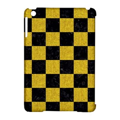 Square1 Black Marble & Yellow Denim Apple Ipad Mini Hardshell Case (compatible With Smart Cover) by trendistuff