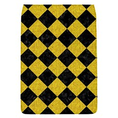 Square2 Black Marble & Yellow Denim Flap Covers (s)  by trendistuff
